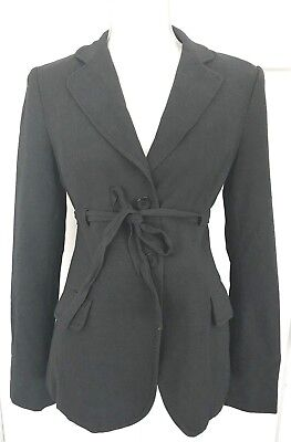 Mimi Maternity Womens Medium Blazer Jacket Dressy Work Dark Gray C7 Tie Waist