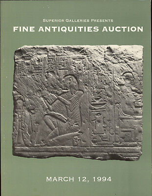 Fine Antiquties Auction Superior Galleries Gold Silver Marble Book Reference