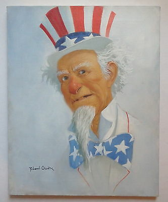 "Robert Owen Original Oil Painting ""Uncle Sam""  ""16x20"""