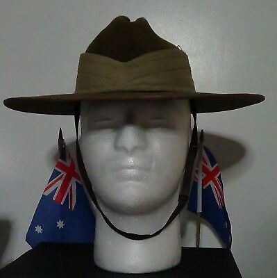 Australian Mount Castle Slouch Hat with Puggaree and Chinstrap Size: 53