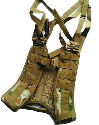 TAS 8 Point Harness Auscam DPCU Military Webbing HD 900 Denier Double PU Coated