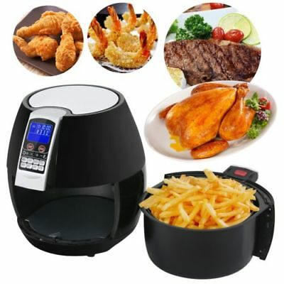1500W LCD Electric Air Fryer W/ 8 Cooking Presets, Temperature Control Timer