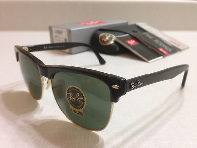 98ad48eb50d Ray-Ban RB4175 877 CLUBMASTER OVERSIZED SHINY BLACK Classic Green Lens 57 mm