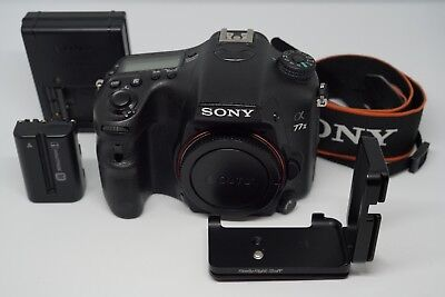 Sony Alpha a77 II DSLR Body (24.3MP) with RRS L-Plate (SLT-A77 Mark 2 A77II)