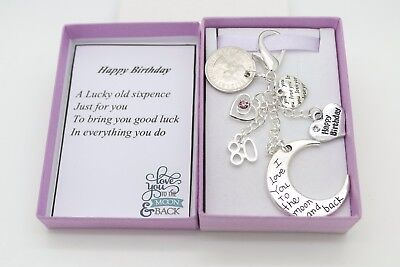 Auntie Sister Nanny Birthday Gift Love You Moon And Back Sixpence