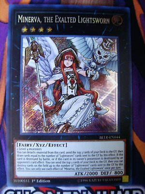 Minerva, The Exalted Lightsworn - BLLR-EN044 - Secret - 1st Ed - NM - Yugioh