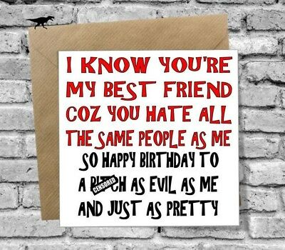 Greetings Happy Birthday Card Sister Best Friend Bff Mate Cousin