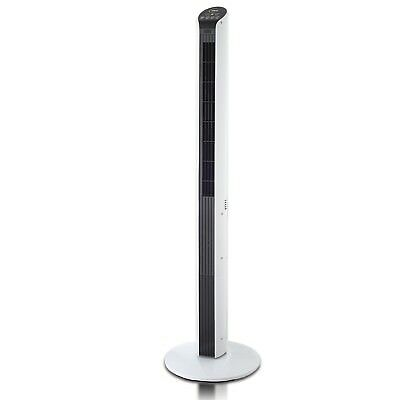 Arlec 120cm Rialto Tower Fan Remote Control Wide Oscillation 7 Speed Touch Panel