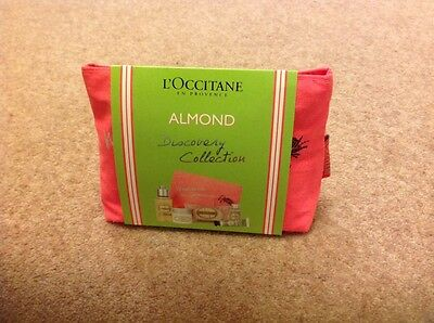 L'occitane Almond Discovery Collection With Make Up Bag Brand New