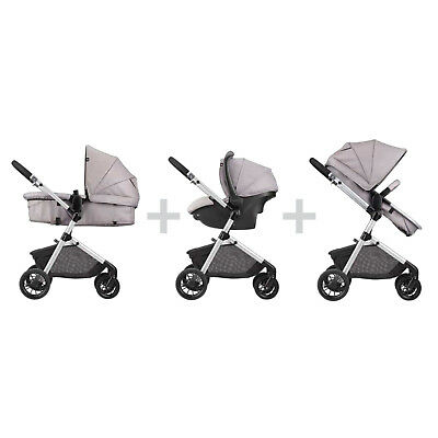 Jogger Stroller and Car Seat Combo 3-in-1 Sandstone Kids Safety Sleeper Comfort