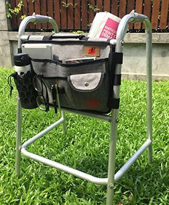 Walker Bag with Cup Holder for Walker by P&F | Deluxe Walker Accessories | At...