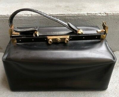 Vintage Leather Physician's Bag With Key