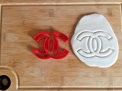 CHANEL Logo Cookie Cutter Birthday Cake Fondant Decorating Pastry Dough Biscuit