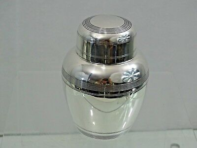 STUNNING ANTIQUE AMERICAN STERLING SILVER TEA CADDY Art Deco Style
