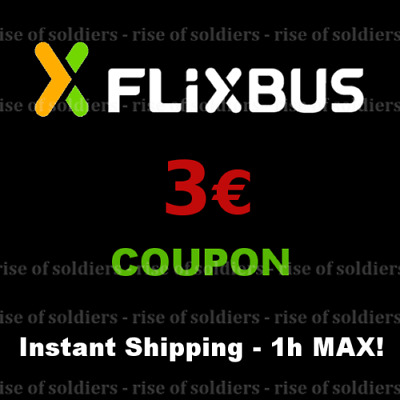 ➤15x3€ Coupon FlixBus - [Shop Closed Today]- Buono Sconto Autobus Discount