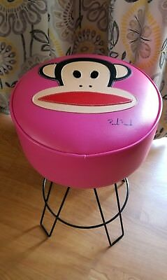 Vintage Paul Frank Pink Stool (RARE 2002) Julius the Monkey - Signed