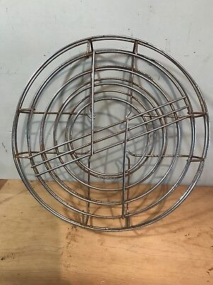 "Vintage Art Deco 12"" Electric Fan Steel Cage"