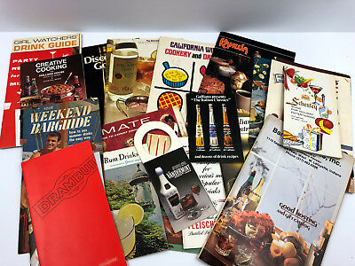 Vintage Cocktail Booklet 1960's-80's Recipe Tiki Drink Guides 22 Different Lot B