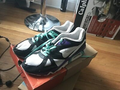 473038096aaf ... NIKE AIR STRUCTURE 318088-011 TRIAX 91 BLACK WHITE MINT PURPLE in SIZE  9.5 ...