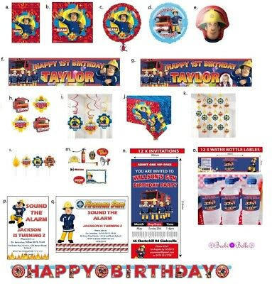 Fireman Sam Party Supplies Napkins Decorations Bags Balloons Banner Invites