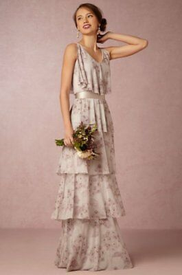 a1d39f18f1e New Bhldn Anthropologie Donna Morgan Delila Tiered Dress Maxi Gown 4 Wedding