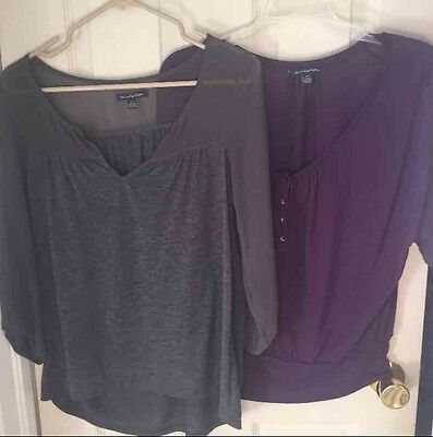 Women's American Eagle Peasant Top Lot Size Small