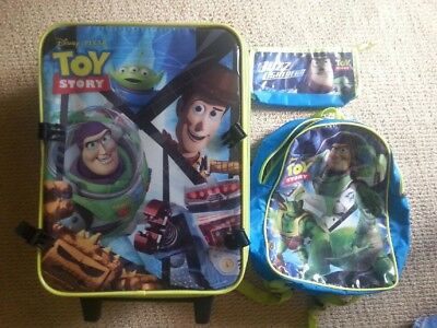 Toy Story 3 Piece Luggage Overnight Set