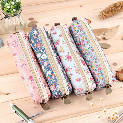 Fashionable  Flora  Flower Lace  Zippered Case For Your Crochet Hooks