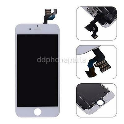 USA LCD Screen + Touch Digitizer + Frame Front Camera For iPhone 6 4.7'' White
