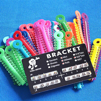 1040 Pcs Orthodontics Elastic Ligature Ties Multi-color & Metal Ortho Brackets