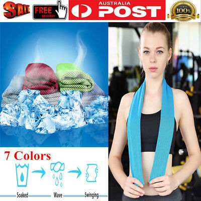 Instant Cooling Towel ICE Cold Heat Relief Reusable Chill Cool Towel Outdoor