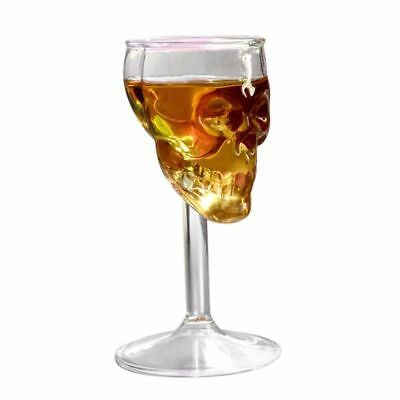 Skull Shaped Wine Glass Sugar Set Stemless Head Cup Day Dead Crystal Halloween