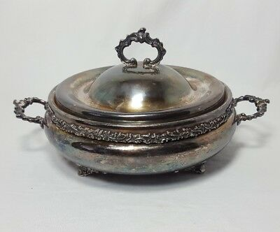 Colonial Silver Co Quadruple Plate Soup Tureen Serving Bowl
