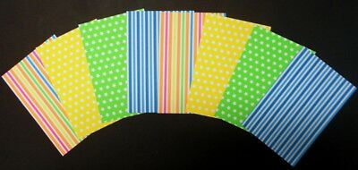 "STRIPES & STARS Scrapbooking/Cardmaking Papers x 8 ~ 15cm x 10cm ~  (6"" X 4"")"
