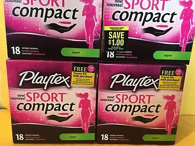 180 Playtex Sport Compact Unscented Tampons, Super