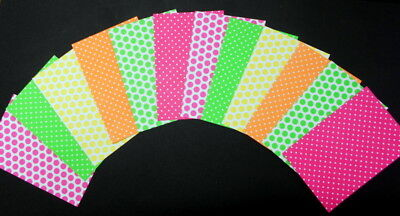 "SPOTS & DOTS  Scrapbooking/Cardmaking Papers x 10~ 15cm x 10cm~(6"" X 4"")"