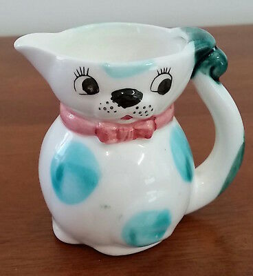 Vintage Made in Japan KITTEN PUPPY Face Small China KITSCH Milk JUG