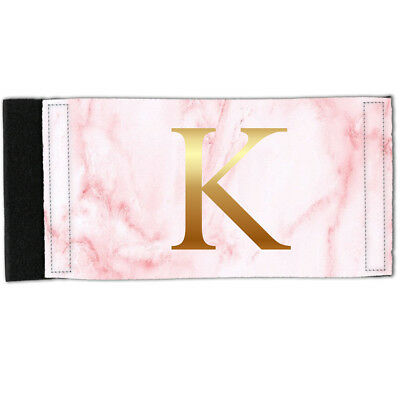 Stubby Holder - Neoprene Can Cooler - PERSONALISED Initial Pink Marble Y01527