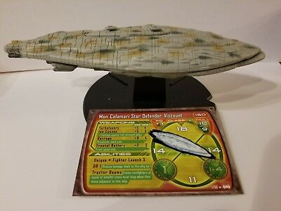 Star Wars Starship Battles #1 Mon Calamari Star Defender Viscount Miniatures