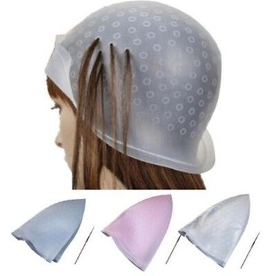 NEW Reusable Silicone Dye Hat Cap Hair Color Highlighting Hairdress Tipping Tool