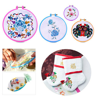 4 Size 3.2-6.3 inch Embroidery Hoops Cross Stitch Hoops Embroidery Circle Set