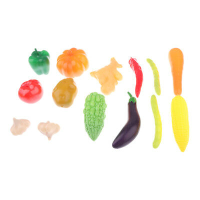 14 Pcs Kid Pretend Role Play Kitchen Fruit Vegetable Food Toy Set Child Gift