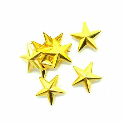 50 X 10mm Star Nail Head Hand Press Studs Rivets Buttons for Leather Craft Work