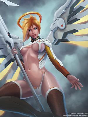 "012 Mercy - Overwatch Sexy Hero Online Hot Game Pinup 14""x18"" Poster"