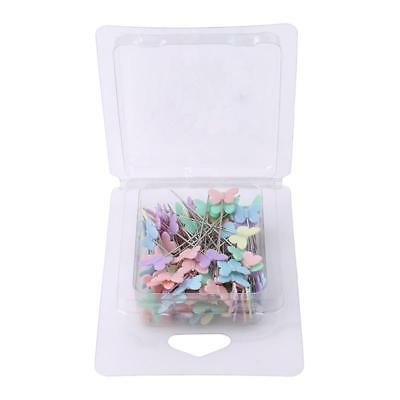 100pcs Button Head Pins Extra Long Coloured Pins Patchwork Quilting Tool N7