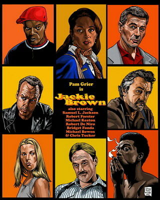 "002 Jackie Brown - Crime Thriller1997 USA Classic Movie 14""x17"" Poster"