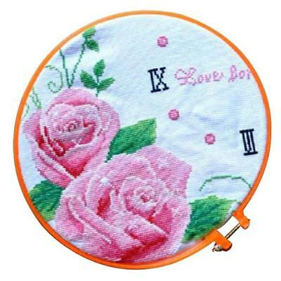 5Pcs Plastic Embroidery Hoop Ring Sewing Fabric Craft Tool Cross Stitch Set N7