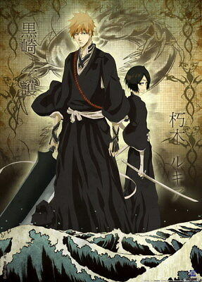 "057 Bleach - Dead Rukia Ichigo Fight Japan Anime 14""x19"" Poster"