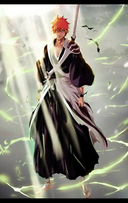 "111 Bleach - Dead Rukia Ichigo Fight Japan Anime 14""x22"" Poster"