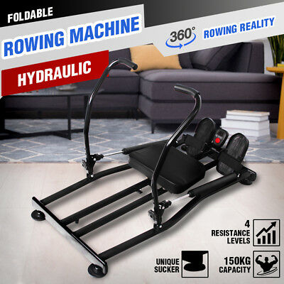 NEW Fitness Hydraulic Rowing Machine Indoor Rower Resistance Cardio Exercise Gym